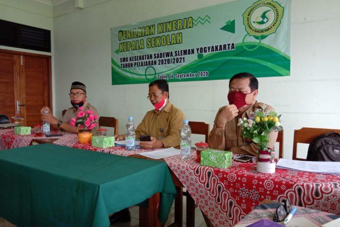 Kegiatan Penilaian Kinerja Kepala Sekolah (PKKS) SMK Kesehatan Sadewa Sleman Yogyakarta